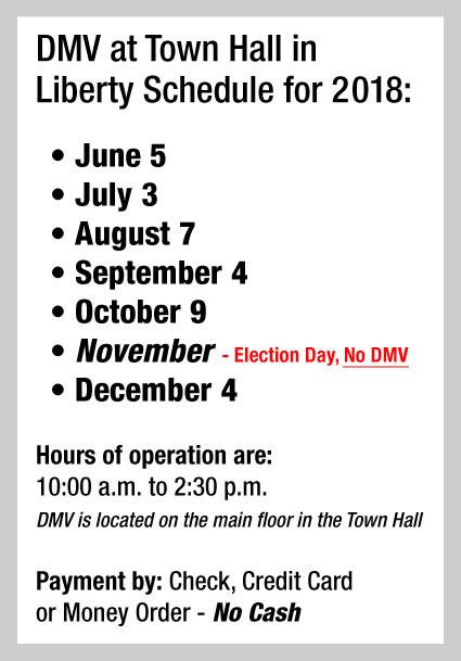 DMV Schedule