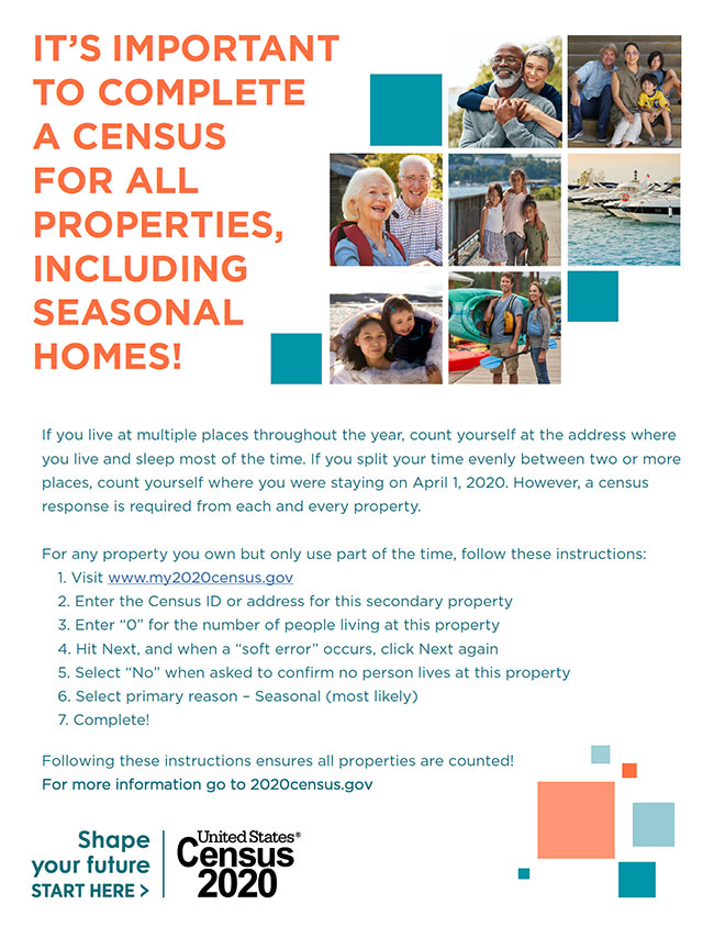 Census 2020 - Seasonal Home Informational Flyer